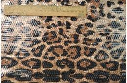 Паетка на Трикотаже Леопард №7. Партия 1